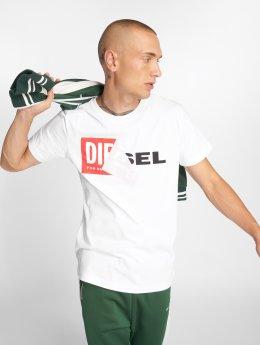 Diesel T-skjorter T-Diego-Qa hvit