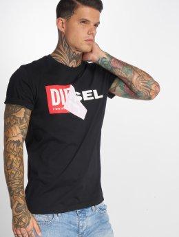 Diesel T-skjorter T-Diego-Qa svart