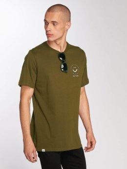 Djinns t-shirt Smile olijfgroen