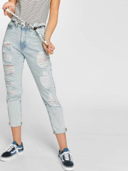 Dr. Denim High Waisted Jeans Nora Ripped To Mom modrý
