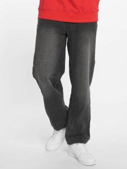 Ecko Unltd. Loose Fit Jeans Globe Grid čern