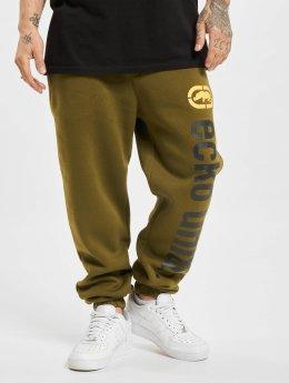 Ecko Unltd. Spodnie do joggingu 2Face  oliwkowy