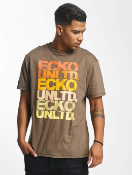 Ecko Unltd. t-shirt Fuerteventura bruin