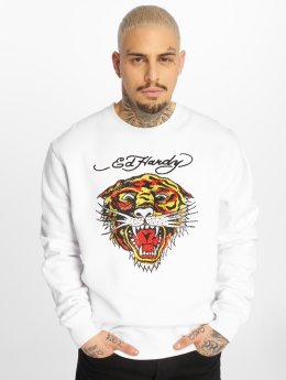 Ed Hardy Sweat & Pull Tiger blanc