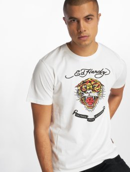 Ed Hardy T-Shirty CaliforniaOS bialy