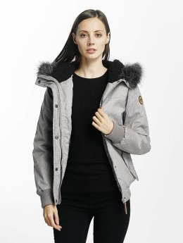 Eight2Nine Manteau hiver Big Hood gris