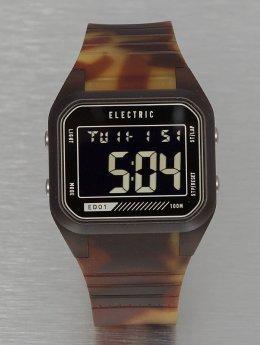 Electric horloge ED01 PU bruin