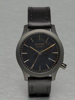Electric / horloge FW03 Leather in zwart
