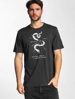 Electric t-shirt CUT SNAKE zwart