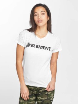 Element T-Shirt Logo weiß