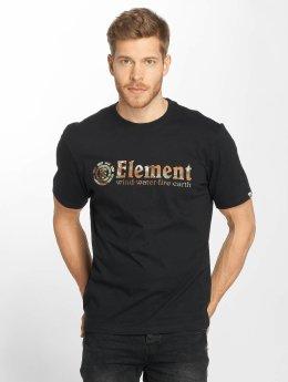 Element t-shirt Horizontal Fill zwart