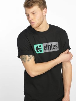 Etnies t-shirt New Box zwart