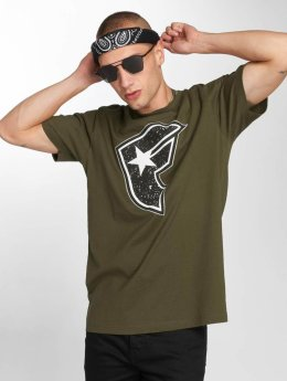 Famous Stars and Straps T-shirt Composition oliva