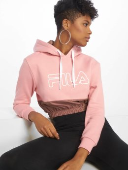 FILA Hoody Dora Iridescent Fleece Mix Crop pink