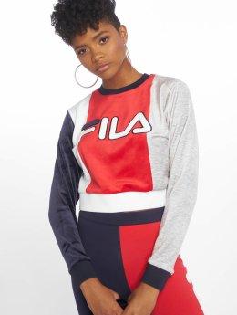 FILA Sweat & Pull Antonietta Velour Colour Block Crop rouge