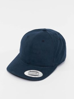 Flexfit Casquette Snapback & Strapback Brushed Cotton Twill Mid-Profile bleu