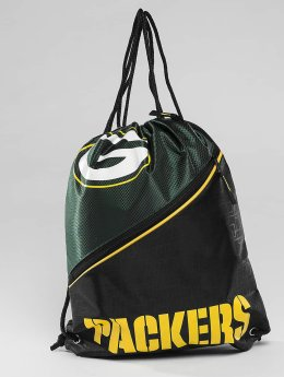 Forever Collectibles Sacchetto NFL Diagonal Zip Drawstring Green Bay Packers nero