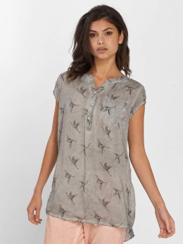 Fresh Made Bluse Birds grau