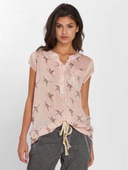 Fresh Made Camicia/Blusa Birds rosa chiaro