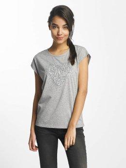 Fresh Made Love T-Shirt Light Grey Melange