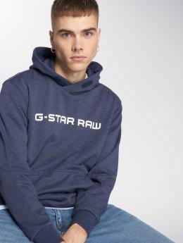G-Star Bluzy z kapturem Loaq Heavy Sherland niebieski