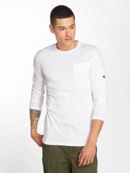 G-Star Camiseta de manga larga Belfurr Compact Jersey Regular Pocket Rib blanco
