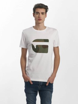 G-Star T-Shirt Mai Slim Cool Rib blanc
