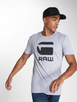 G-Star T-shirt Drillon Cool Rib grå