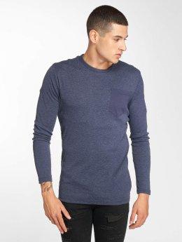 G-Star T-Shirt manches longues Belfurr Compact Jersey Regular Pocket Rib bleu