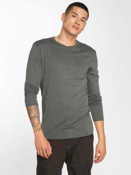 G-Star T-Shirt manches longues Belfurr Compact Jersey Regular Pocket Rib gris
