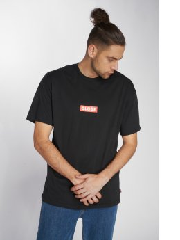Globe t-shirt Bar zwart