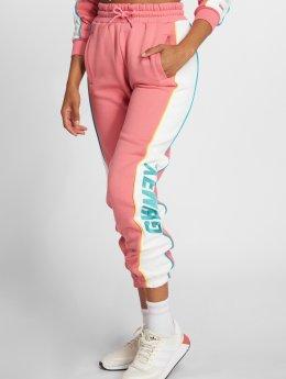 Grimey Wear Jogging kalhoty Hazy Sun růžový