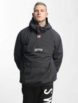 Grimey Wear | The Lucy Pearl Raincoat noir Homme Veste mi-saison légère