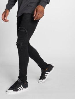 GRJ Denim dżinsy przylegające  czarny