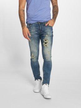 GRJ Denim dżinsy przylegające Denim Fashion niebieski