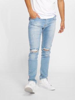 GRJ Denim dżinsy przylegające Fashion niebieski
