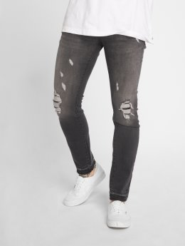GRJ Denim Jean slim Fashion gris