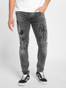 GRJ Denim Jean slim Fashion gris