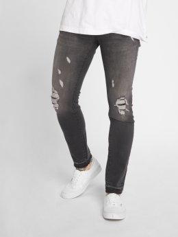 GRJ Denim Jeans ajustado Fashion gris