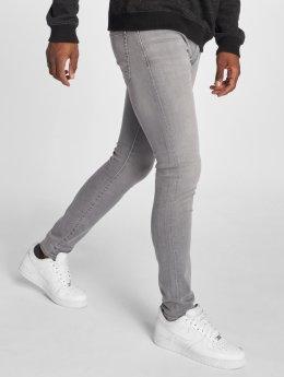 GRJ Denim Slim Fit -farkut Basic harmaa