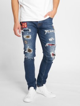 GRJ Denim Slim Fit Jeans Fashion blue