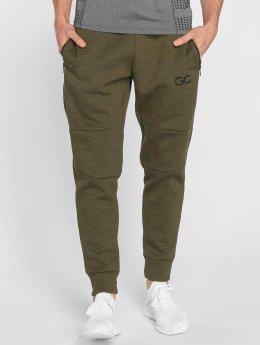 GymCodes Pantalons de jogging Athletic-Fit olive