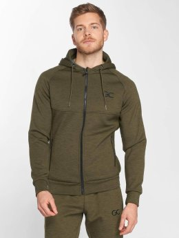 GymCodes Zip Hoodie Athletic-Fit olivová