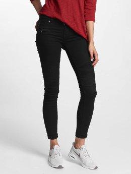 Hailys Skinny Jeans Kina Biker sort
