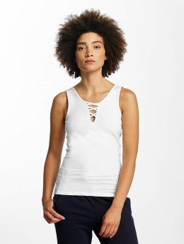 Hailys Ann Lace-Up Top White