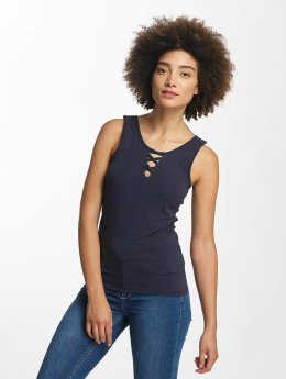 Hailys Tops sans manche Ann Lace-Up bleu