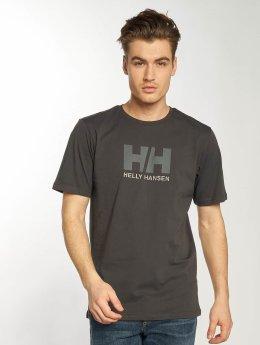 Helly Hansen T-Shirt Logo grau