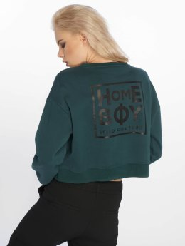Homeboy Frauen Pullover Haily New School Logo in grün