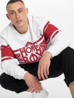 Homeboy Pullover College Nappo Logo weiß