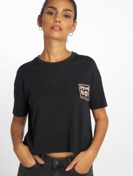 Homeboy T-Shirt Cate New School Logo schwarz